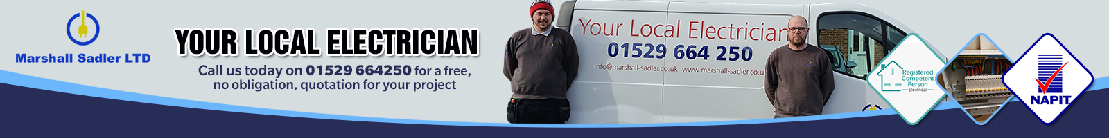 Marshall-Sadler Ltd - Your local, reliable and trustworthy electricians in Sleaford.