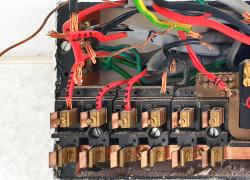 Inside old style fuse box