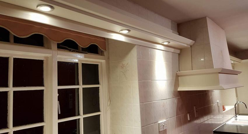 Kitchen downlights install in Sleaford