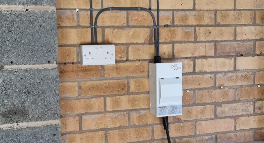 Garage Fuse Box and Socket